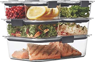Rubbermaid Brilliance Leak-Proof Food Storage Containers with Airtight Lids, Set of 7 (14 Pieces Total)   BPA-Free & Stain...