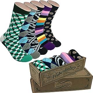 Men's Haberdashery Dress Socks ~ Mustache These Socks ~ Fun, Colorful & Funky