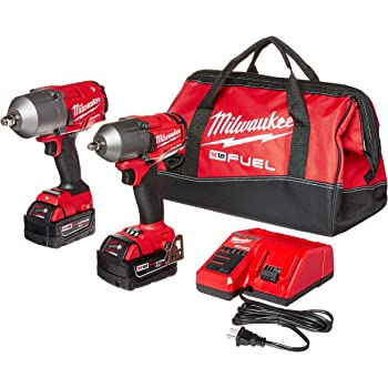 """Milwaukee 2 PC M18 FUEL Auto Kit - 1/2"""" Impact Wrench and 3/8"""" Impact Wrench"""
