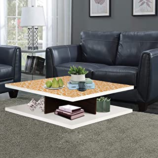 Aart Store Engineered Wood Coffee Table Centre Printed Table for Living Room