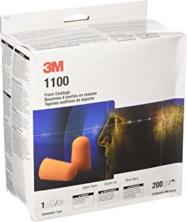 3M 1100 Foam Ear Plugs, 200-Pair