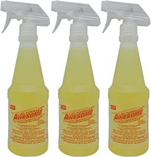 LA's Totally Awesome All Purpose Cleaner, Degreaser Spot Remover - 3 Bottles of 20 fl oz Each Yellow