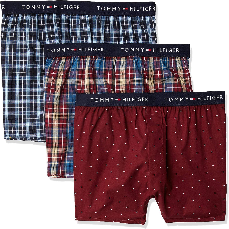 Tommy Hilfiger Men's Underwear Cotton Classics Slim Fit Woven Boxers