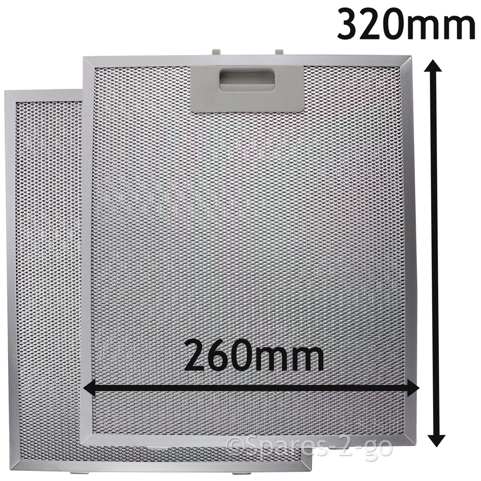 Spares2go Malla Metálica Filtro para teka campana extractora/extractor ventilación (Pack de 2 filtros, Plata, 320 x 260 mm): Amazon.es: Hogar