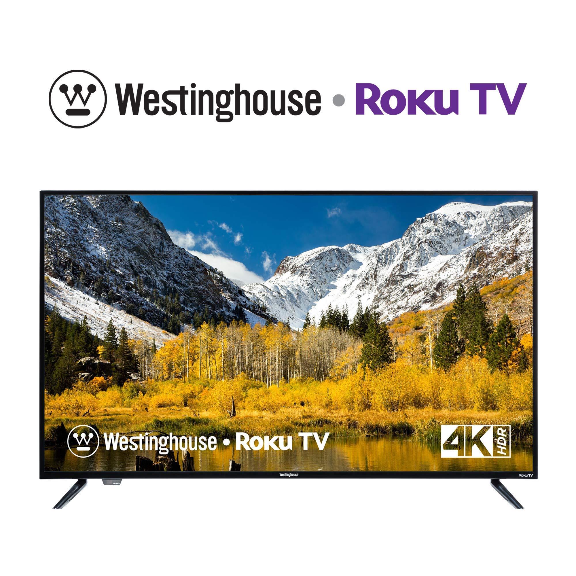 Westinghouse 43 inch Roku 4k Ultra HD LED Smart TV with HDR (Renewed)- Buy  Online in Qatar at qatar.desertcart.com. ProductId : 181794058.