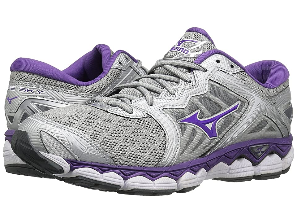 Mizuno Wave Sky (Silver/Pansy/Castlerock) Girls Shoes
