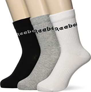 Reebok Unisex Act Core Mid Crew Sock 3P Socks