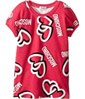 Moschino Kids - Heart Short Sleeve Sweatshirt (Infant/Toddler)