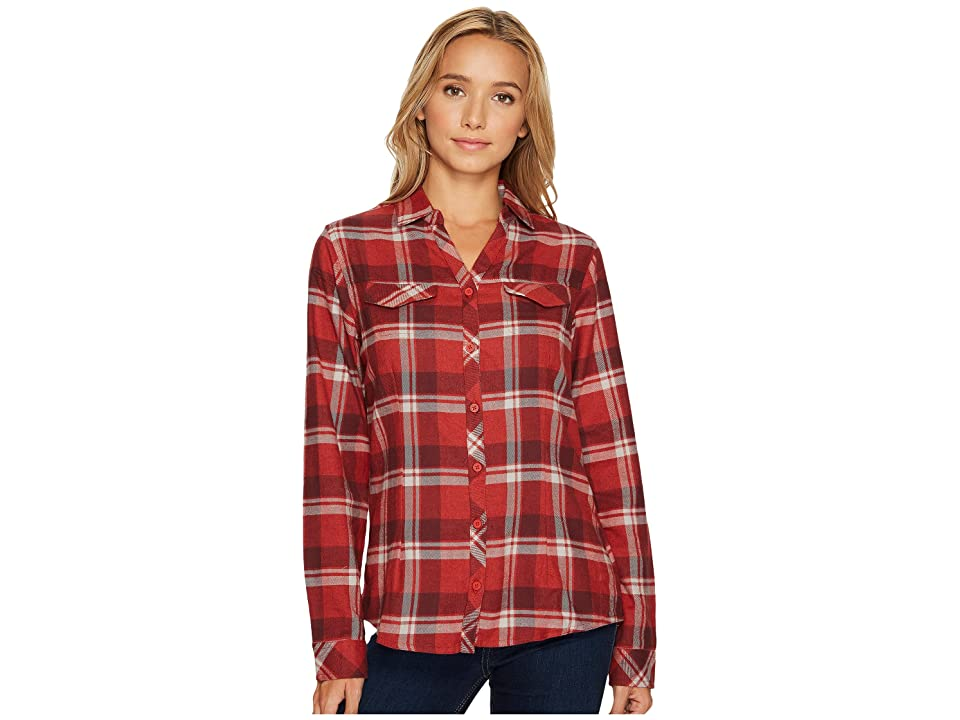 Columbia Simply Puttm II Flannel Shirt (Sail Red Open Ground Plaid) Women