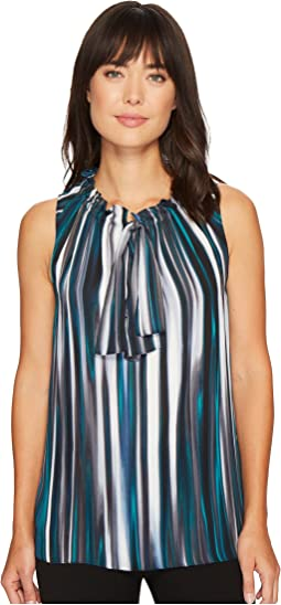 Ellen Tracy - Ruffle Tie Neck Shell