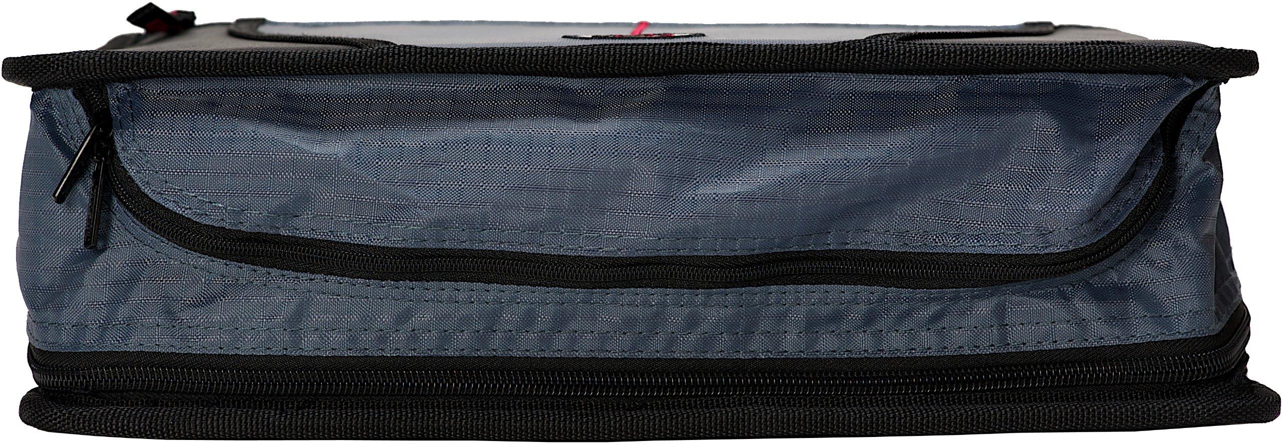 D-146-C-BLK Case of 6 Case-it Mighty Zip Tab 3-Inch Zipper Binder Black