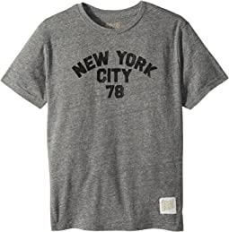 The Original Retro Brand Kids - New York 78 Short Sleeve Tri-Blend Tee (Big Kids)