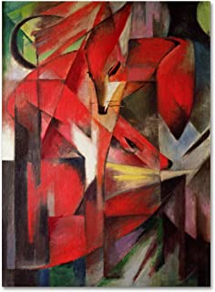 The Fox 1913 Artwork by Franz Marc, 18 by 24-Inch Canvas Wall Art