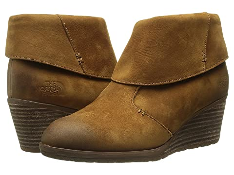 The North Face Boots Womens - The North Face Bridgeton Wedge Red Brown
