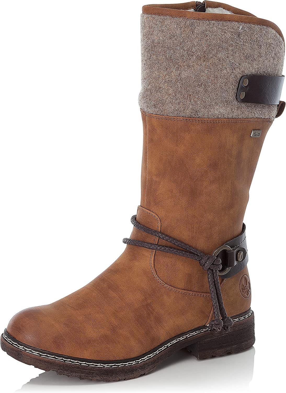 Rieker Tex Damen Stiefelette Boots Schwarz Schuhe gefüttert L4270-00