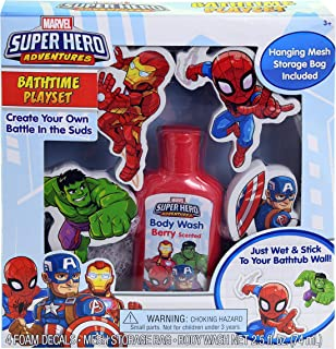 Marvel Super Hero Bathtime Play Set