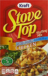 Stove Top Low Sodium Chicken Stuffing Mix (6 oz Boxes, Pack of 12)