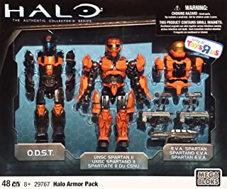 Mega Bloks Halo Armor Pack [29767] 6 Inch Magnetic Action Figure with ODST, UNSC Spartan II & EVA Spartan Armor