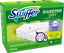 Swiffer Sweeper Dry Sweeping Pad Refills with Febreze Lavender Vanilla & Comfort Scent, 16 Count