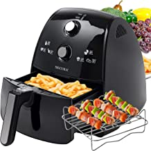 Secura 4 Liter, 4.2 Qt., Extra Large Capacity 1500 Watt Electric Hot Air Fryer and additional access(Renewed)