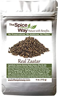 Best The Spice Way - Real Zaatar with Hyssop spice blend | 4 oz | (No Thyme that is used as an hyssop substitute). With sumac. No Additives, No Perservatives, (Za