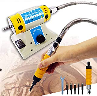 110V Electric Chisel Carving Tool Wood Carving Machine Woodworking Chisel (Host +Chisel + shaft) with 5 Blades
