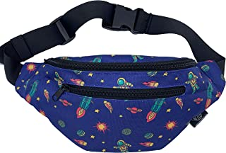 Mochil Fanny Pack - Cute Waist Belt Bag for Men, Women, Kids | Space Fun Pattern for Running, Hiking Pack, Raves, Costume (Interstellar)