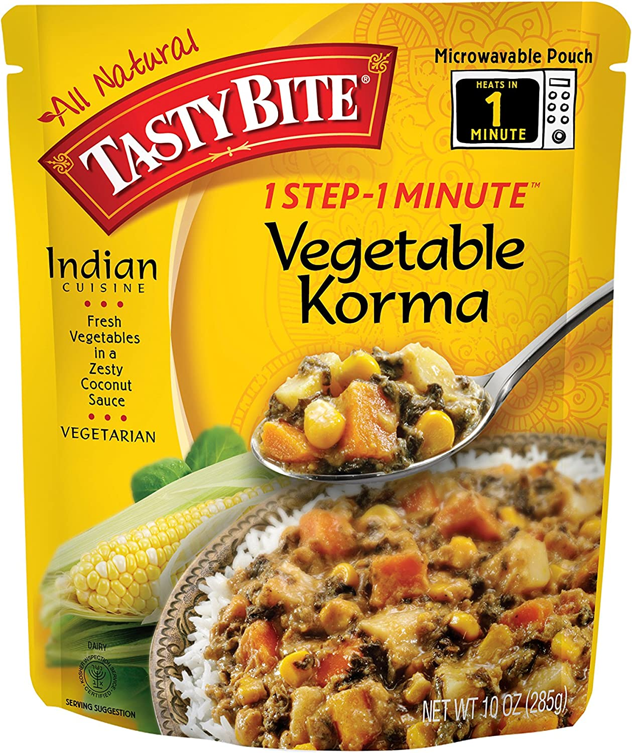 Tasty Bite gift Sale Special Price Vegetable Korma Entree Fully Indian Cooked 10 Ounce