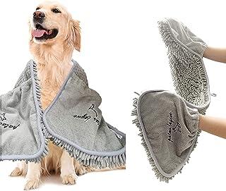 حوله سگ جاذب لوکس Patas Lague ، حوله خشک کننده سریع میکرو فیبر با جیب دستی حوله حیوان خانگی برای سگ و گربه ، قابل شستشو در ماشین