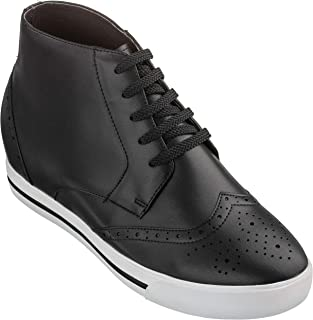 Men's Invisible Height Increasing Elevator Shoes - Black...