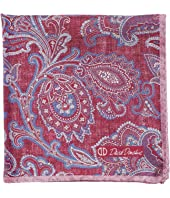 Paisley Double-Sided Silk Pocket Square