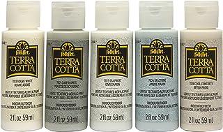 FolkArt, Sunbaked Terra Cotta Set of 5, 2 fl oz Assorted Matte Finish Colors, Drawing & Art Supplies, DIY Arts and Crafts ...