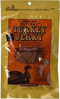 Trader Joe's Natural Turkey Jerky Teriyaki Flavor 4 Oz.