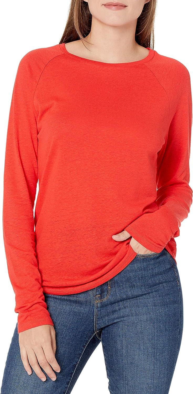 Amazon Brand - Goodthreads Women's Lightweight Linen Modal Jersey Long-Sleeve Raglan T-Shirt