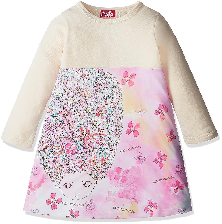 (カネオナルキ)KANEONARUKI 長袖ドレス Long sleeve dress 【Bright pink】110