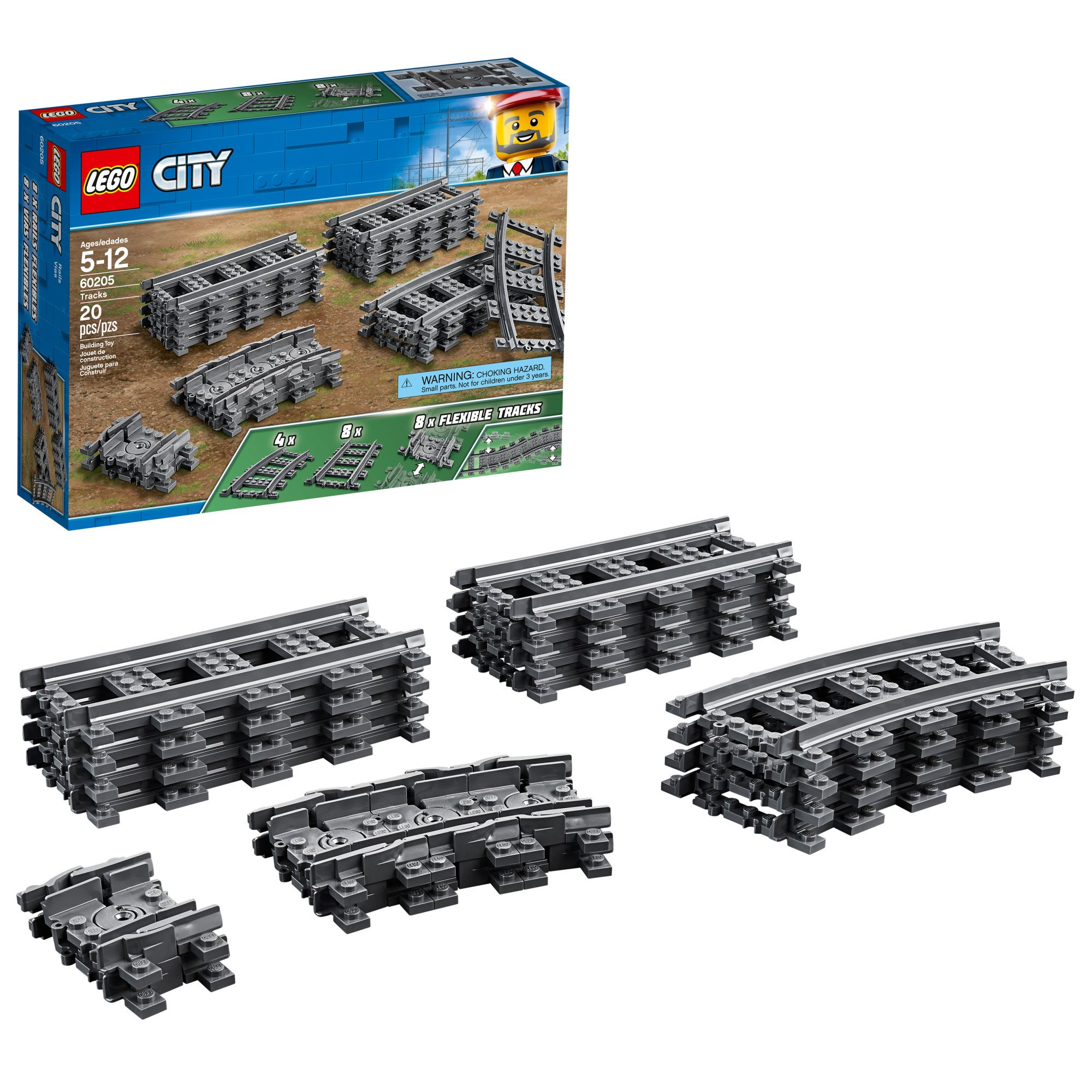 LEGO Train Track Curved 16 Piece Circle Of Rails For Harry Potter Set 75955