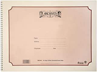Archives Spiral-Bound Manuscript Book, 18 Stave, 64 pages, 12 x 16 inches