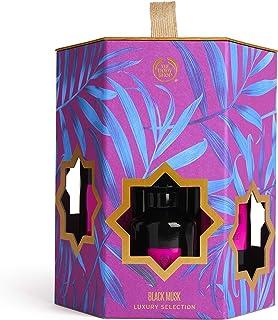 The Body Shop Black Musk Set Of 4 Pieces Perfume Eau de Toilette 60ml With Shower Gel 250ml & Body Lotion 250ml & Body Mis...