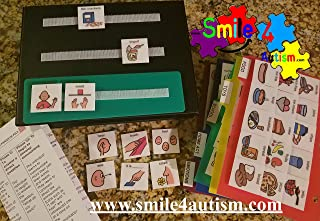 English Original Hand Made in USA Communication picture book Autism Language Flash Cards, Vocabulary, Picture, ABA Learning Speech Therapy Language Articulation -ASD ADD ADHD & Apraxia