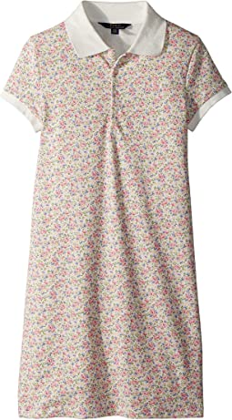 Polo Ralph Lauren Kids Floral Stretch Mesh Polo Dress (Little Kids/Big Kids)