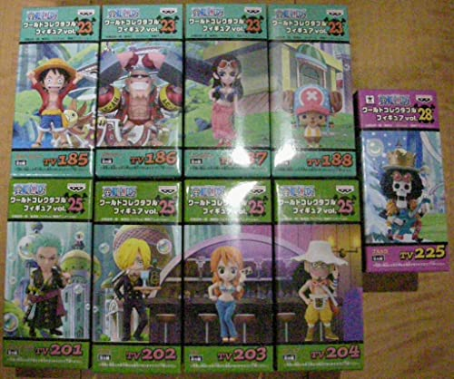 Piece World Collectable figures Straw Hat Pirates all nine vol.23,25,28