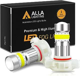 Alla Lighting 2800lm Xtreme Super Bright 5201 5202 LED Fog Lights Bulbs High-Power COB-72 SMD Car Truck PS19W 12085 PS24W DRL, 6000K Xenon White