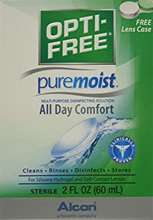 OPTI-FREE Pure Moist Multi-Purpose Disinfecting Solution, All Day Comfort 2 oz (Pack of 3)
