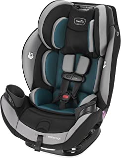 Evenflo EveryStage DLX Convertible Car & Booster Seat, Rear-Facing Ratchet Tightened, For Ages Infant to 10, Reef Blue