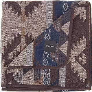 RUTH&BOAZ Outdoor Wool Blend Blanket Ethnic Inka Pattern(L)
