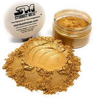 Gold Pearl Pigment Powder for Resin, Cosmetic Grade Gold Shimmer, Biodegradable Natural Mineral Mica Powder, Mica Powder f...