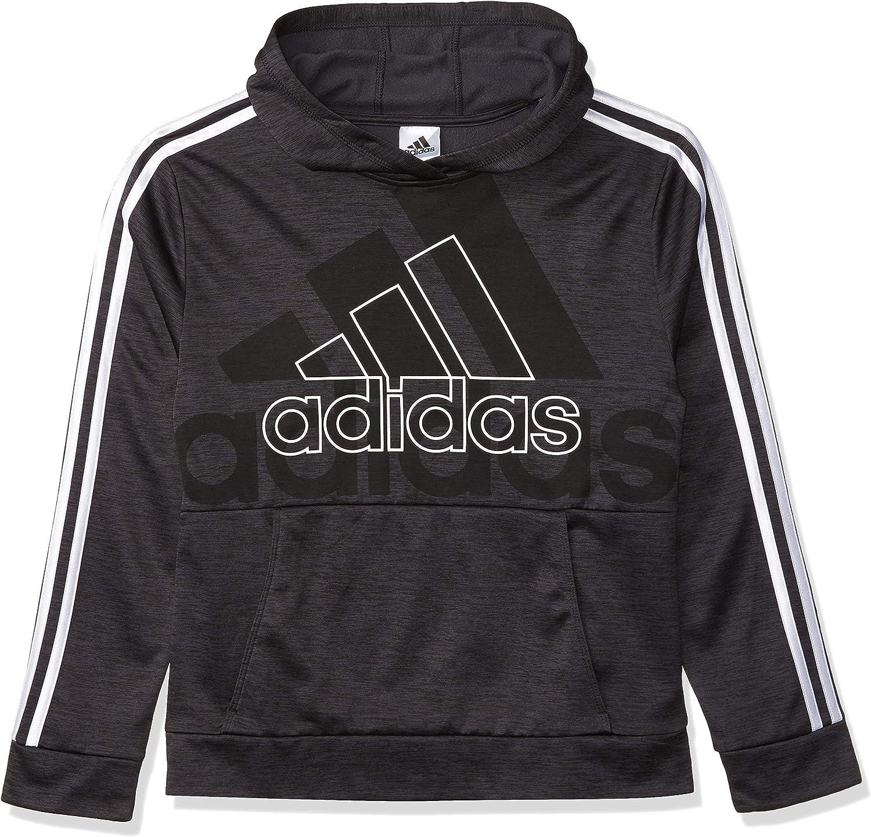 adidas Boys' Active Sport Athletic Pullover Hooded Sweatshirt