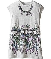 Stella McCartney Kids - Joni Jersey Dress with Feather and Belt Graphic (Toddler/Little Kids/Big Kids)