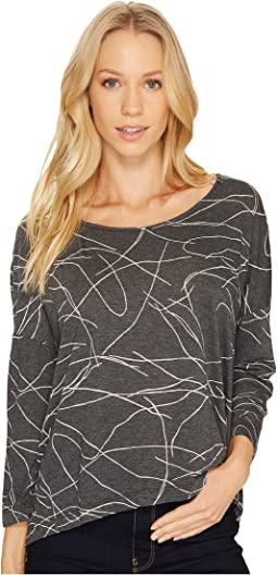 Squiggle Burnout High-Low Long Sleeve