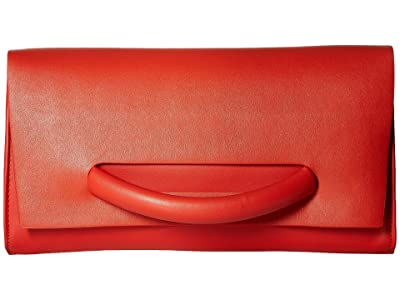 Sam Edelman Grace Flap Clutch (Tangerine) Handbags